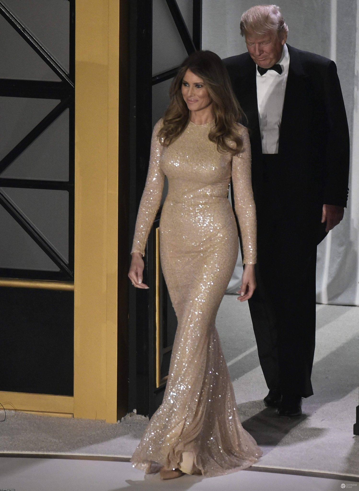 Melania Triump na balu przed inauguracją