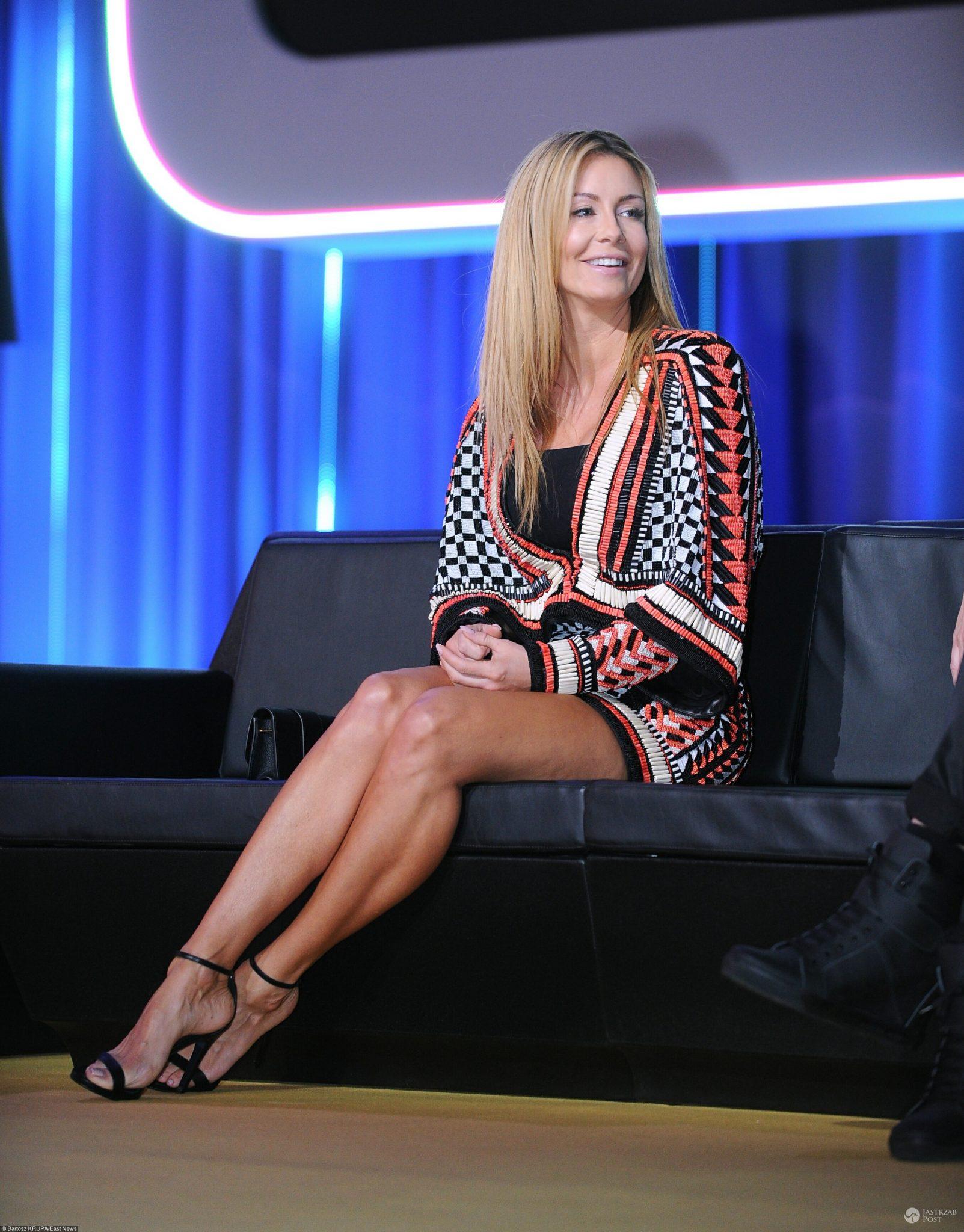 Małgorzata Rozenek w sukni Balmain na wiosennej ramówce TVN 2017