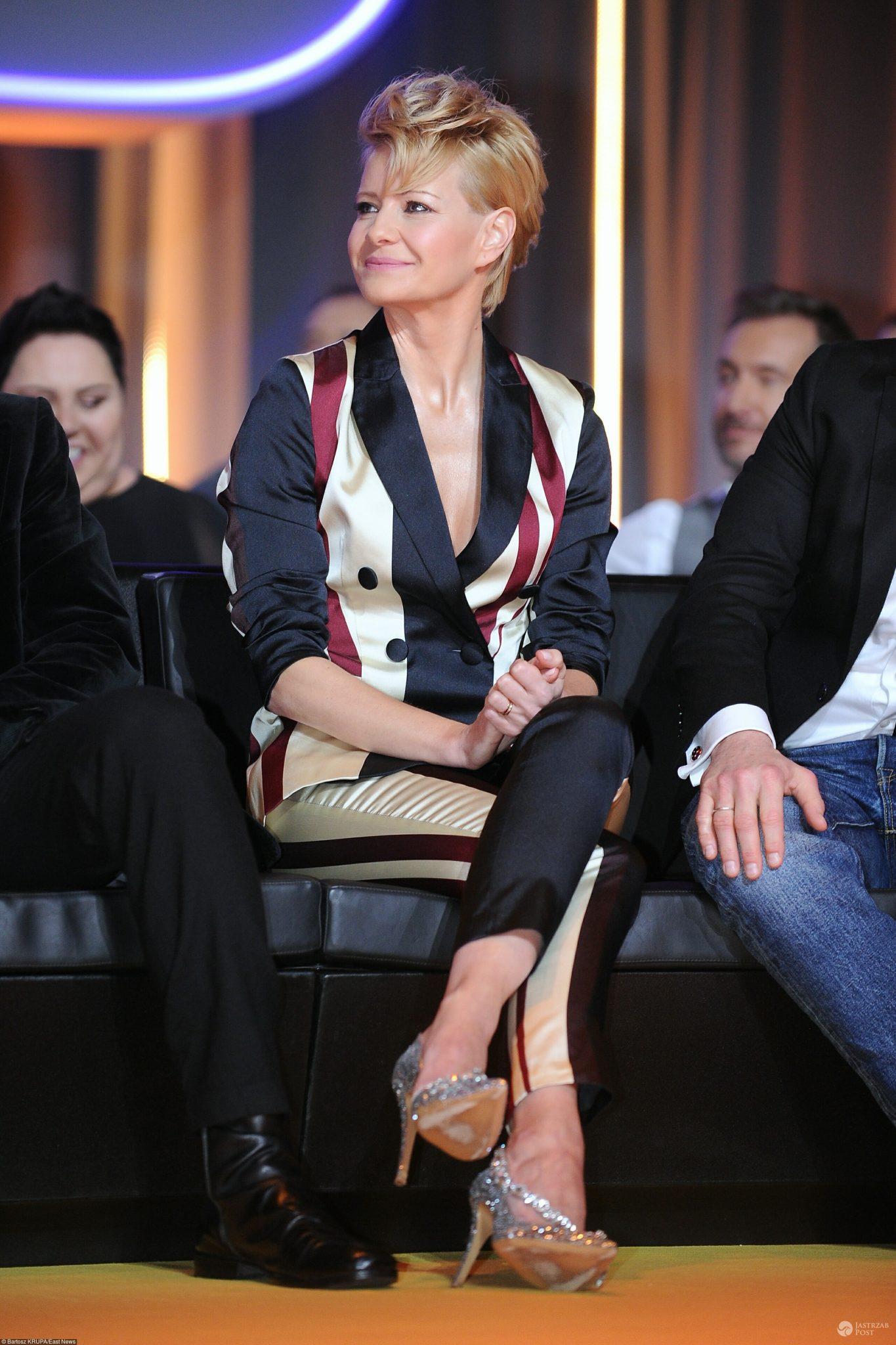 Małgorzata Kożuchowska na prezentacji wiosennej ramówki stacji TVN 2017 pokazała, jak nosić garnitur! - Małgorzata Kożuchowska – wiosenna ramówka TVN 2017
