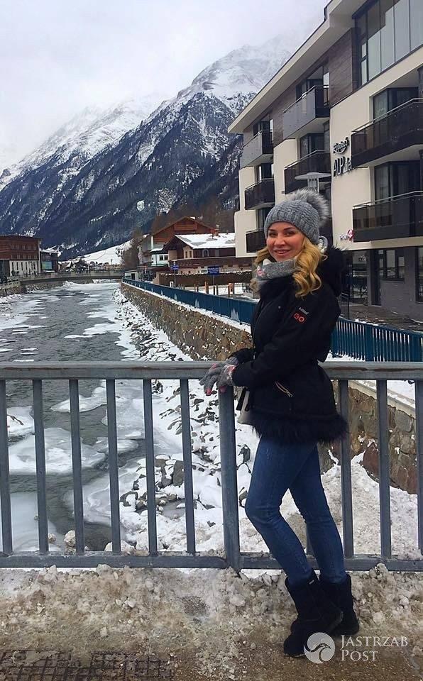 Lidia Kopania na nartach w Austrii