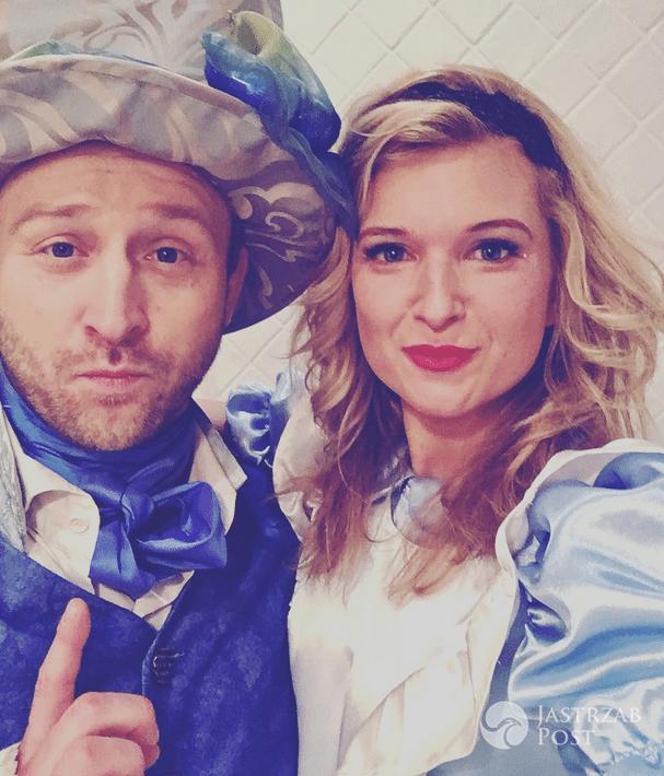 Borys Szyc i Justyna Nagłowska Sylwester 2016 w stylu Alicji w Krainie czarów - Instagram