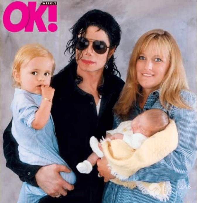 Debbie Rowe i Michael Jackson z dziećmi