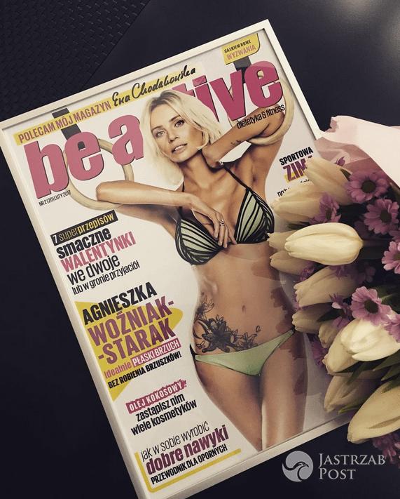 Agnieszka Woźniak-Starak chwali się okładką Be active - Instagram