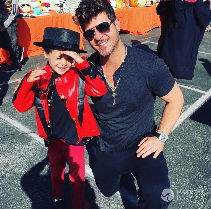 Robin Thicke z synem - Instagram