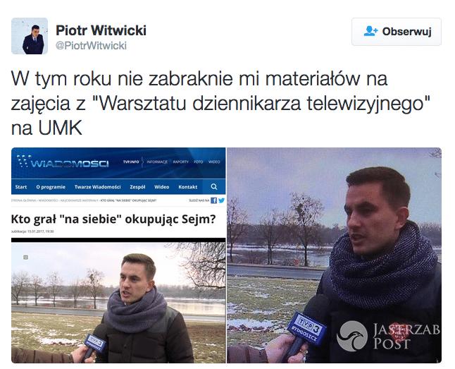 Piotr Witwicki o serduszku WOŚP usuniętym ze zdjęcia posła PO
