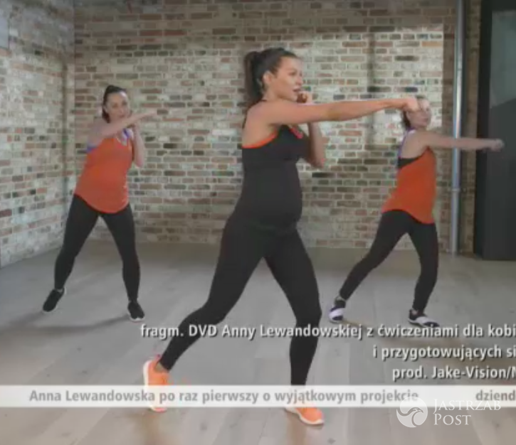 Anna Lewandowska w ciąży na planie DVD (x-news.pl)