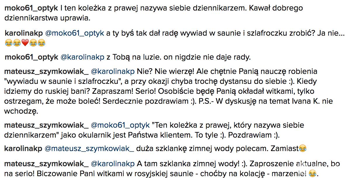 Salon optyczny Moko 69 obraża Mateusza Syzmkowiaka, swojego klienta