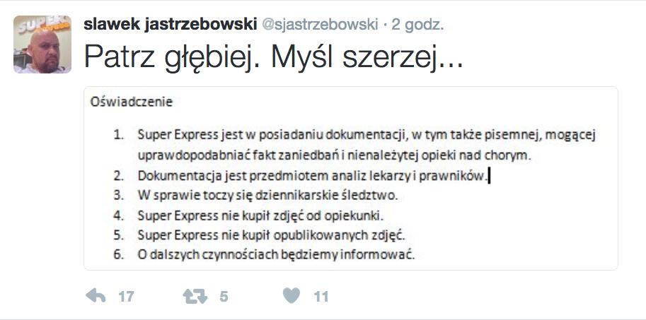 Sławomir Jastrzębowski o zdjęciach Wojciecha Młynarskiego w Super Expressie