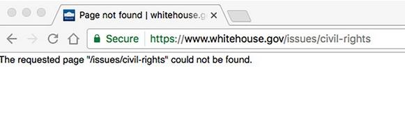 Ze strony Białego Domu zniknęła zakładka o Prawach Człowieka