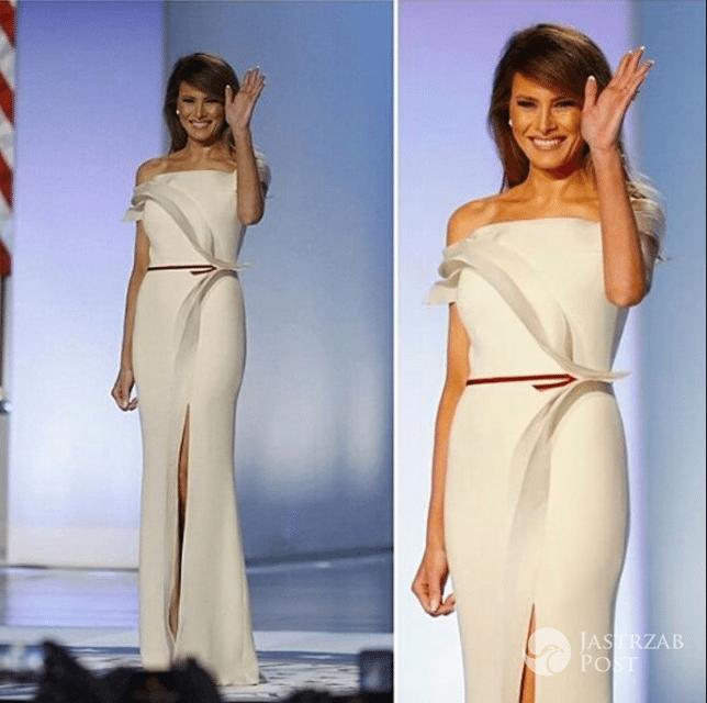 Melania Trump zatańczyła pierwszy taniec w kreacji Herve Pierre - Instagram