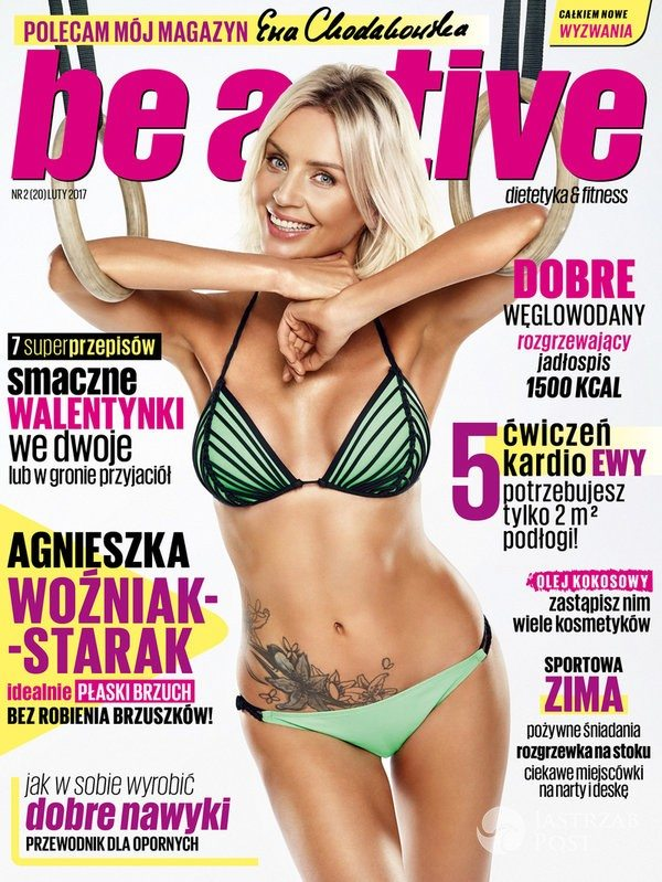 Agnieszka Woźniak-Starak na okładce Be active
