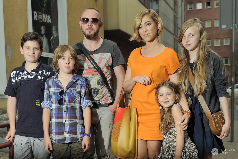 Natalia Kukulska z rodziną