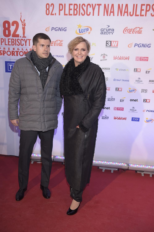 Otylia Jędrzejczak z partnerem - Gala Mistrzów Sportu 2016