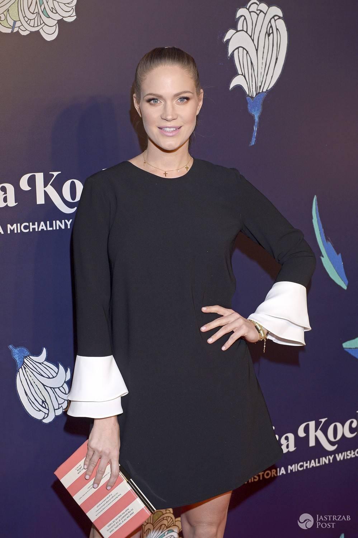 Zosia Ślotała w ciąży na premierze filmu Sztuka kochania.