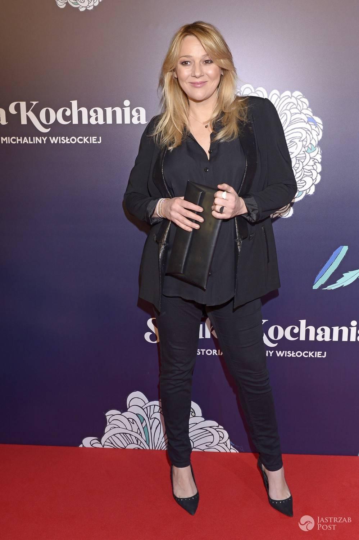 Katarzyna Kwiatkowska w ciąży na premierze filmu Sztuka kochania. Zdjęcia 2017