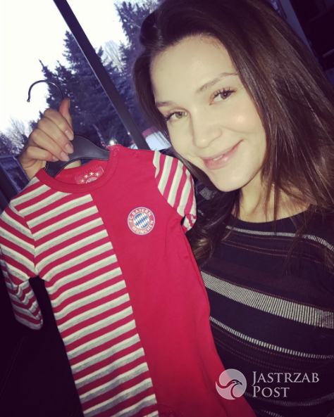 Natalia Jakuła dostała śpioszki od Anny Lewandowskiej