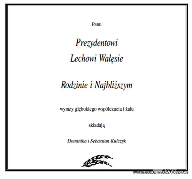 Dominika i Sebastian Kulczyk złożyli kondolencje Lechowi Wałęsie