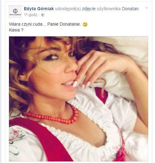 Edyta Górniak zaprosiła Donatana na kawę