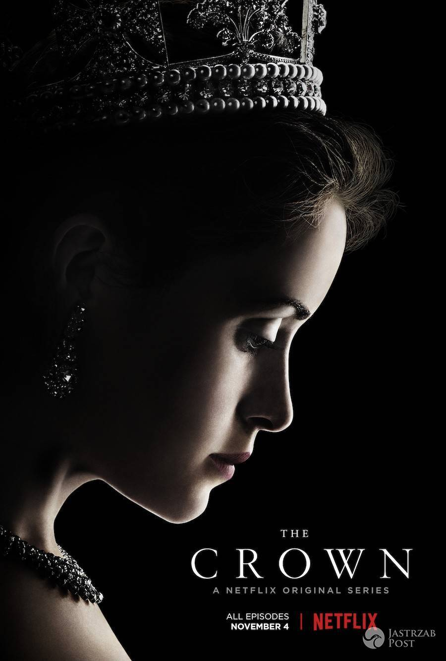 "Plakat serialu ""The Crown"""
