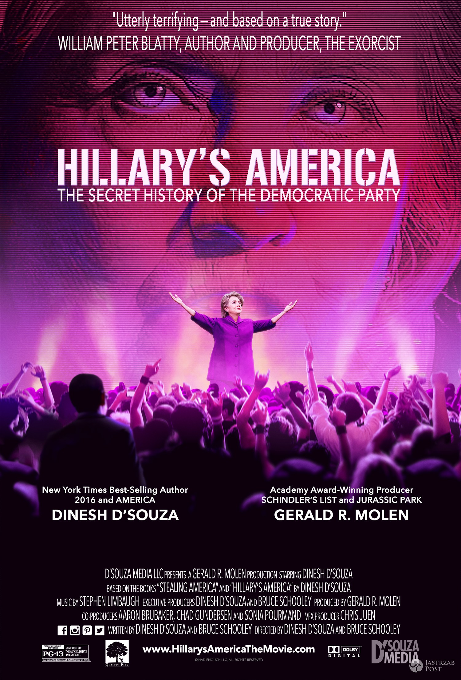 """Hillary's America: The Secret History of the Democratic Party"" - plakat filmu"