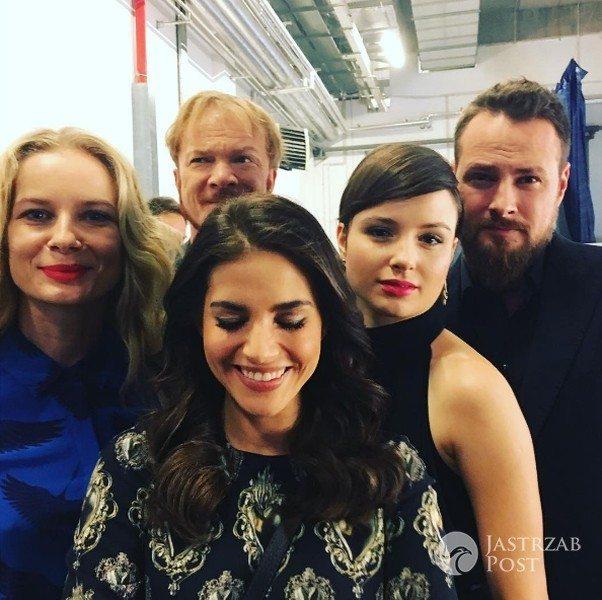 """Gwiazdy serialu """"Belle Epoque"""" na prezentacji wiosennej ramówki TVN 2017 (fot. Instagram)"""