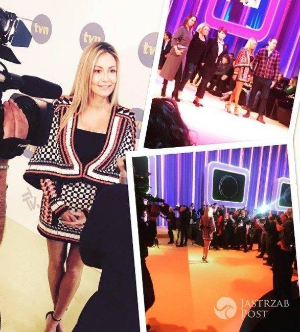 Małgorzata Rozenek-Majdan na prezentacji wiosennej ramówki TVN 2017 (fot. Instagram)