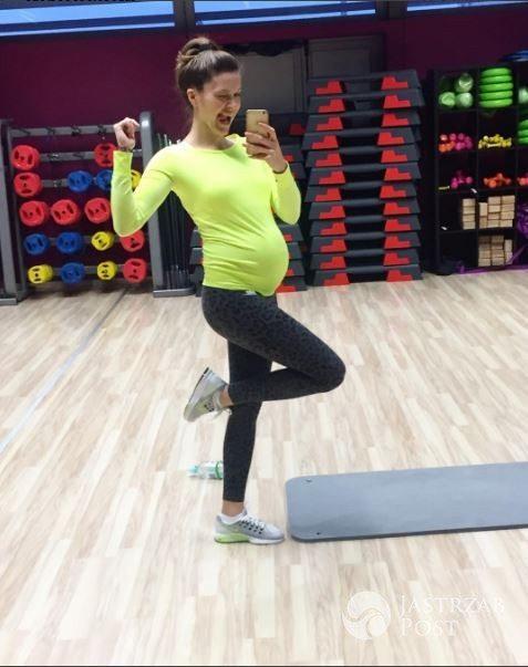 Natalia Jakuła ćwiczy w ósmym miesiącu ciąży