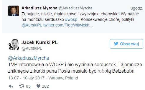 Jacek Kurski komentuje wycinanie serduszek WOŚP 2017