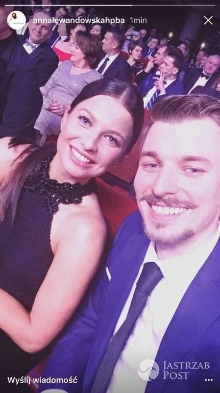 Anna Lewandowska z bratem, Piotrem Stachurskim