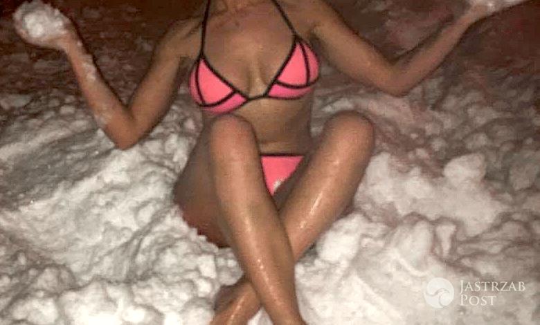 Lidia Kopania w bikini na śniegu