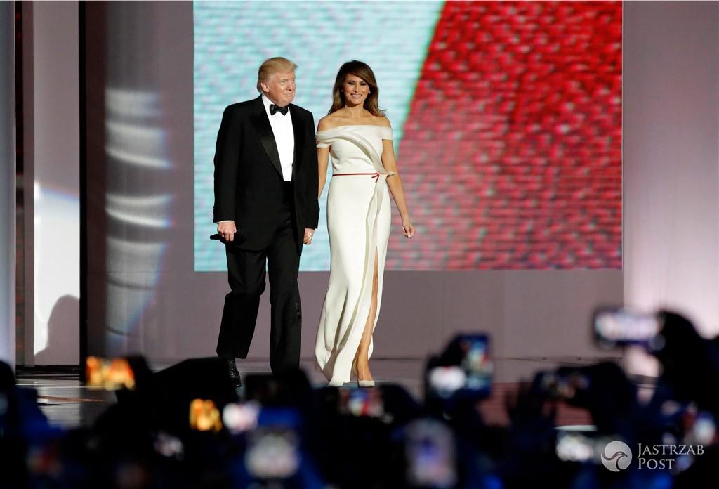 Melania Trump - sukienka podczas pierwszego tańca, czyj projekt?