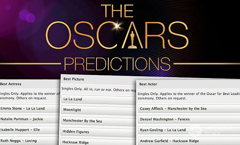 Oscary 2017 ranking bukmacherów