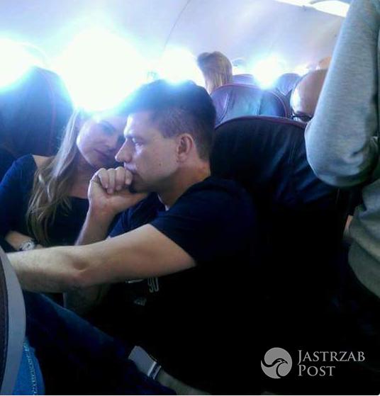 Ryszard Petru i Joanna Schmidt w samolocie