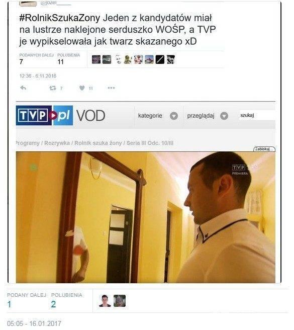 TVP zamazało serduszko WOŚP w programie