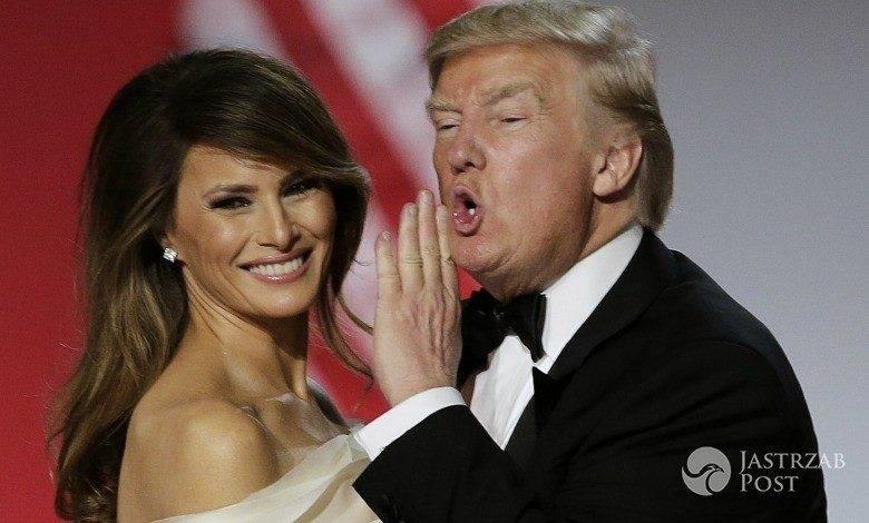 Donald Trump i Melania Trump podczas pierwszego tańca po zaprzysiężeniu