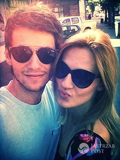 Michalina Manios z chłopakiem