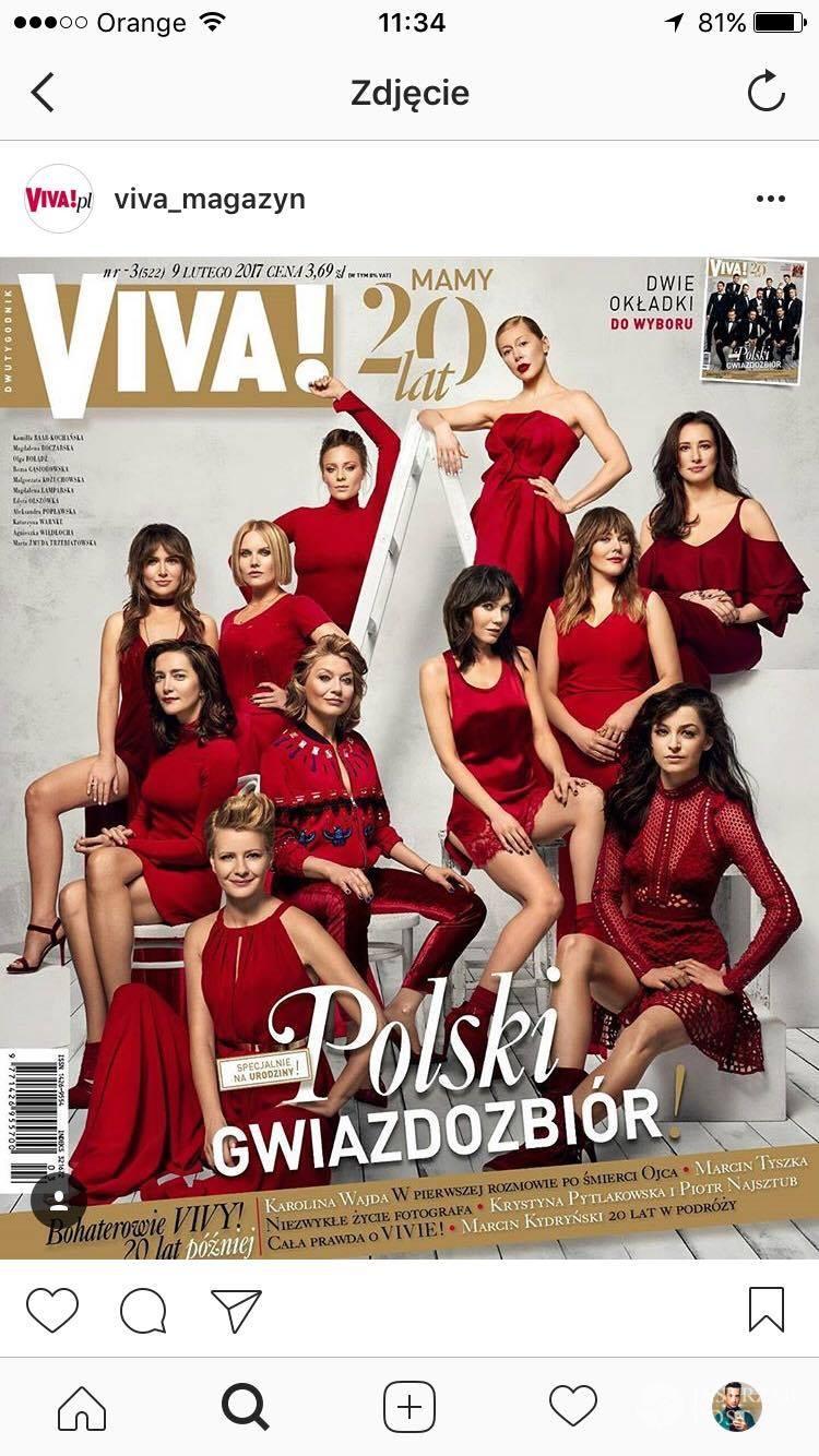 Okładki magazynu VIVA! z gwiazdami. Luty 2017