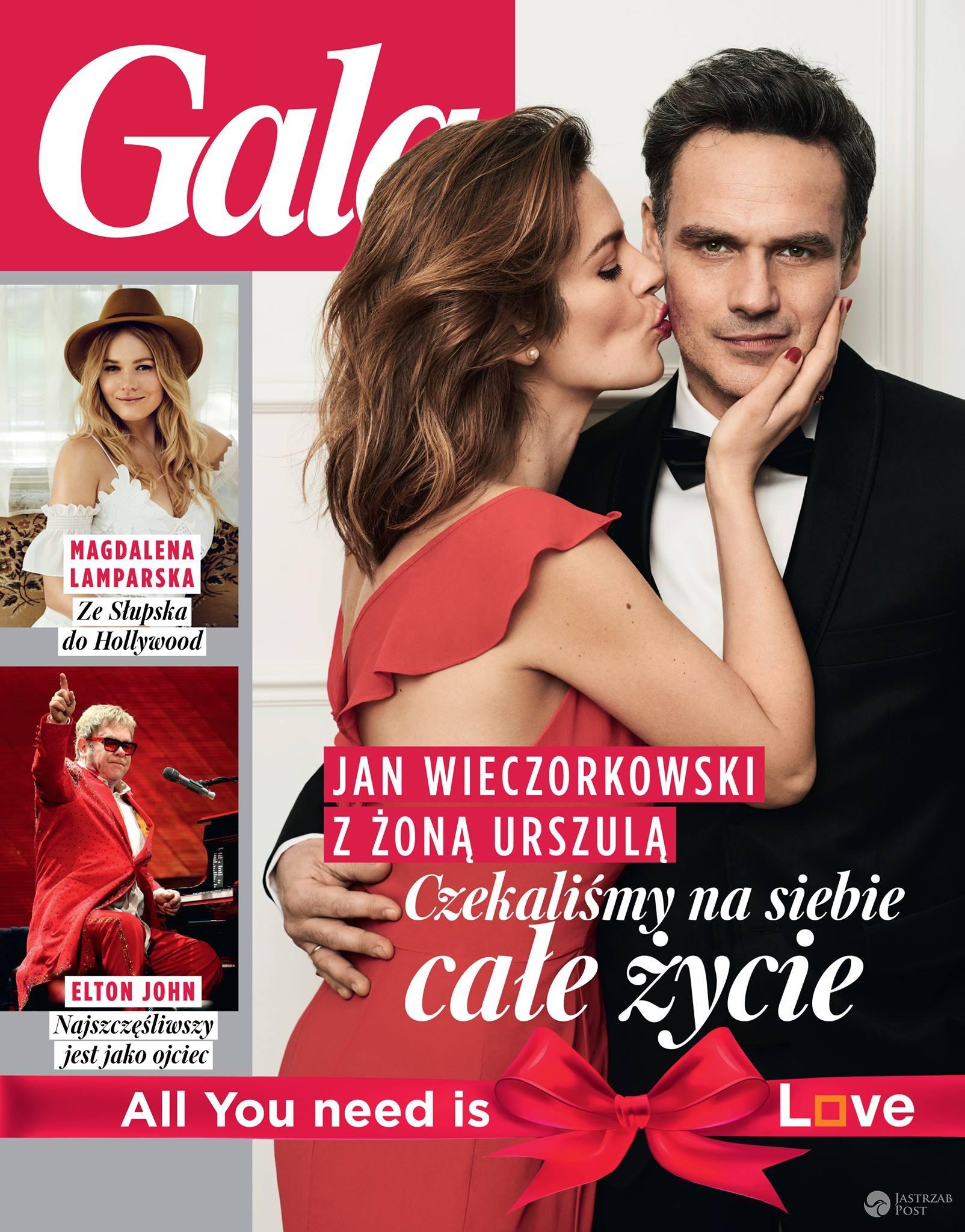 Jan Wieczorkowski z żoną Urszulą Kaczmarczyk na okładce Gali
