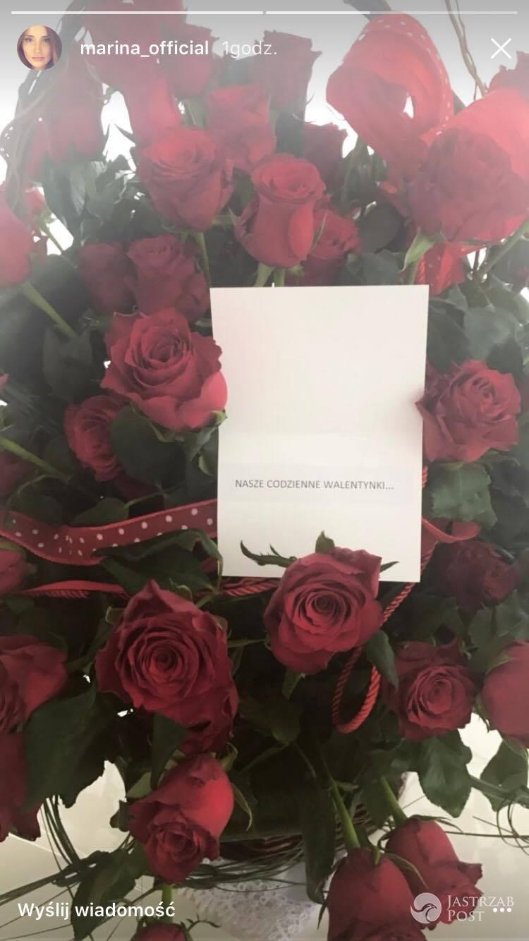 Marina dostała róże od Wojciecha Szczęsnego