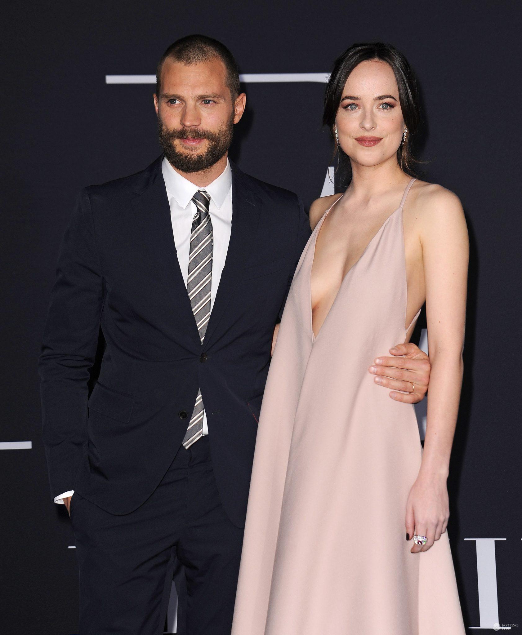 Dakota Johnson i Jamie Dornan na premierze Ciemniejszej strony Greya