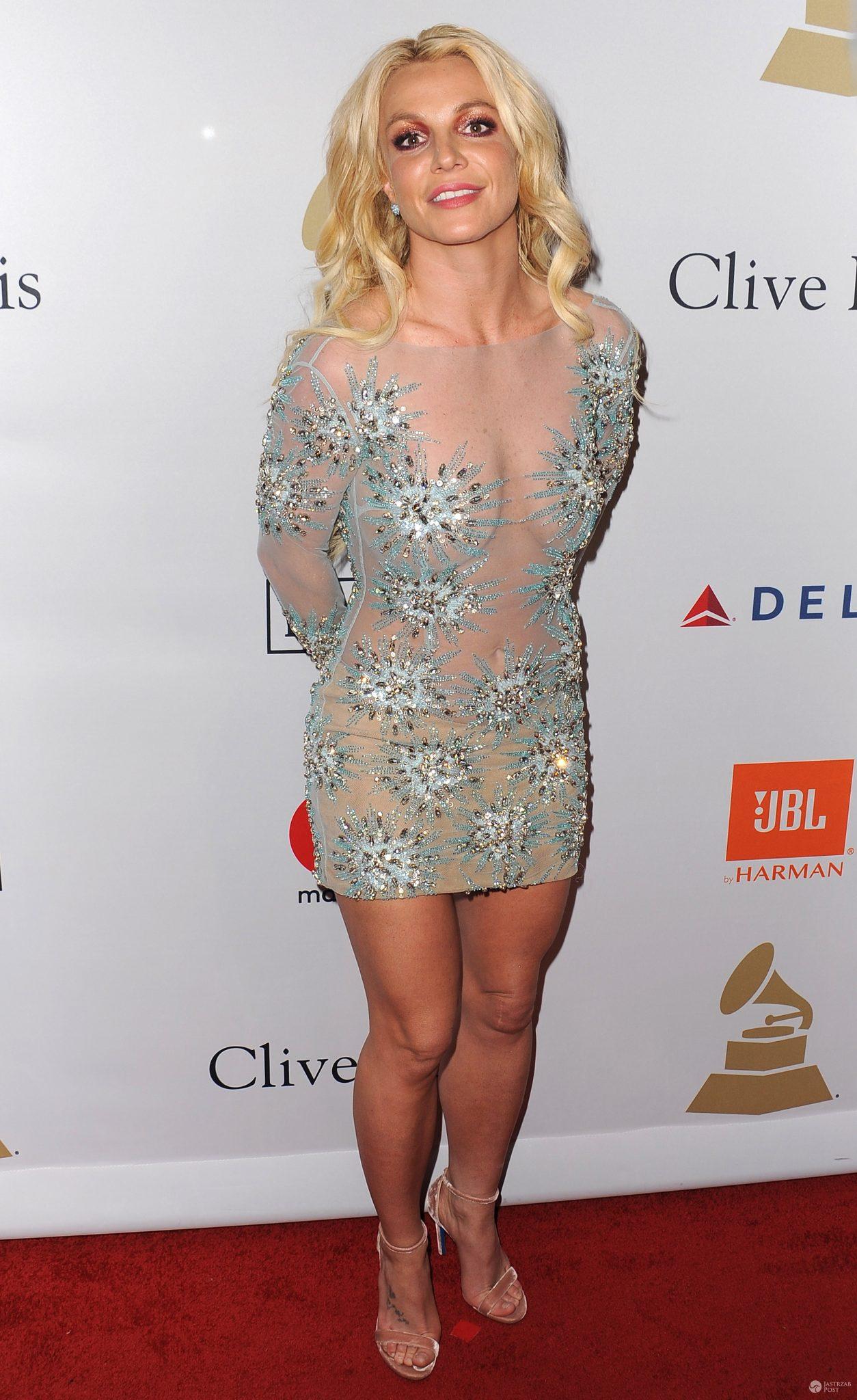 Britney Spears na imprezie pre-Grammy 2017