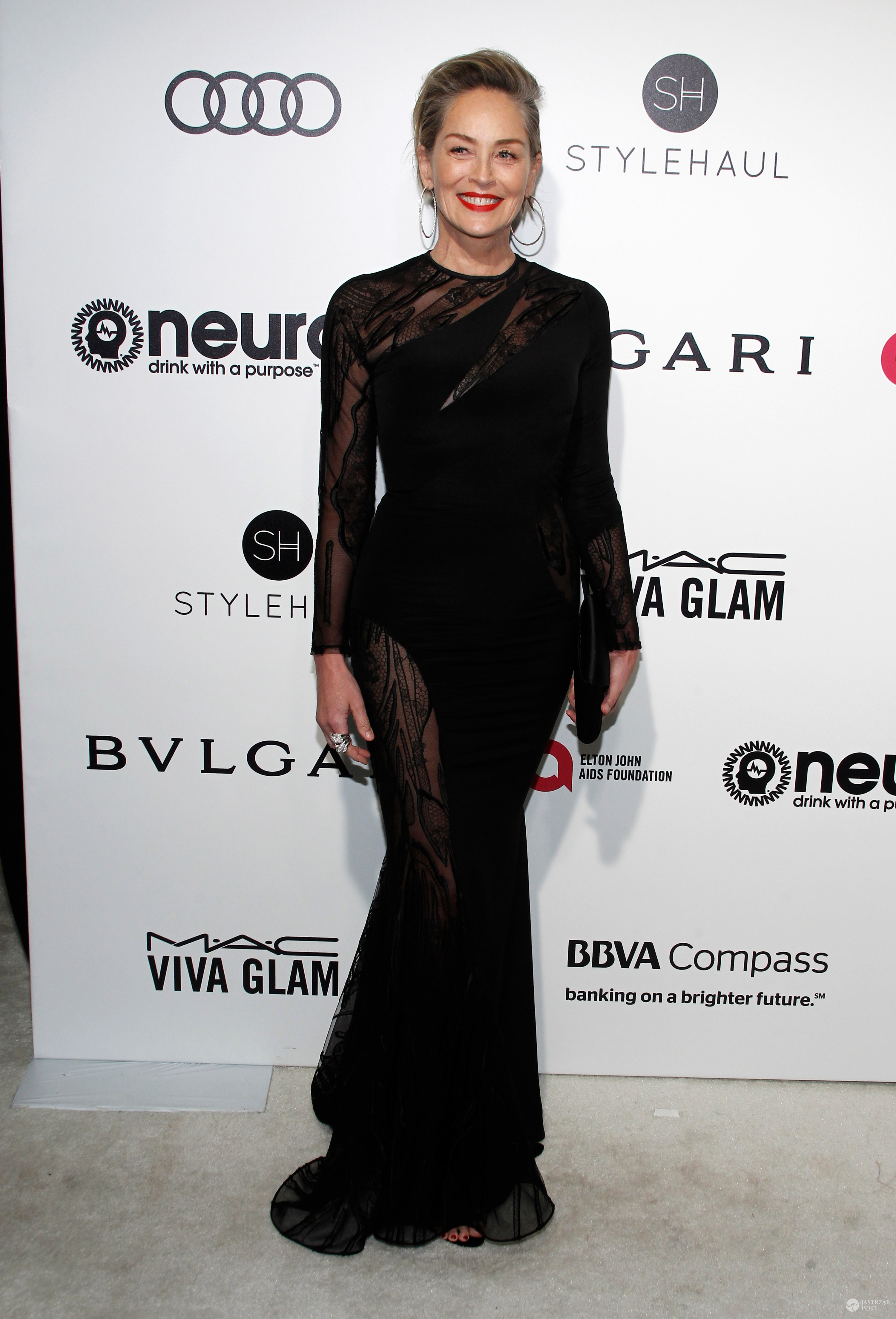 Sharon Stone - Bal u Eltona Johna 2017