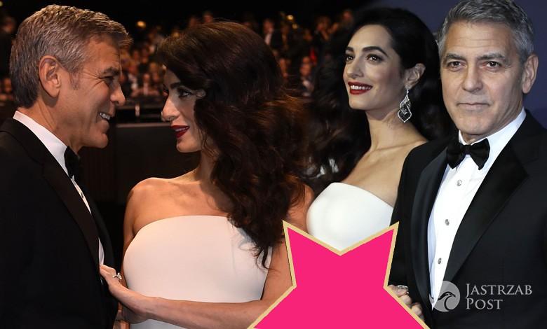 George Clooney i Amal Clooney na gali Cesar FIlm Awards 2017. Zdjęcia ciężarnej 2017