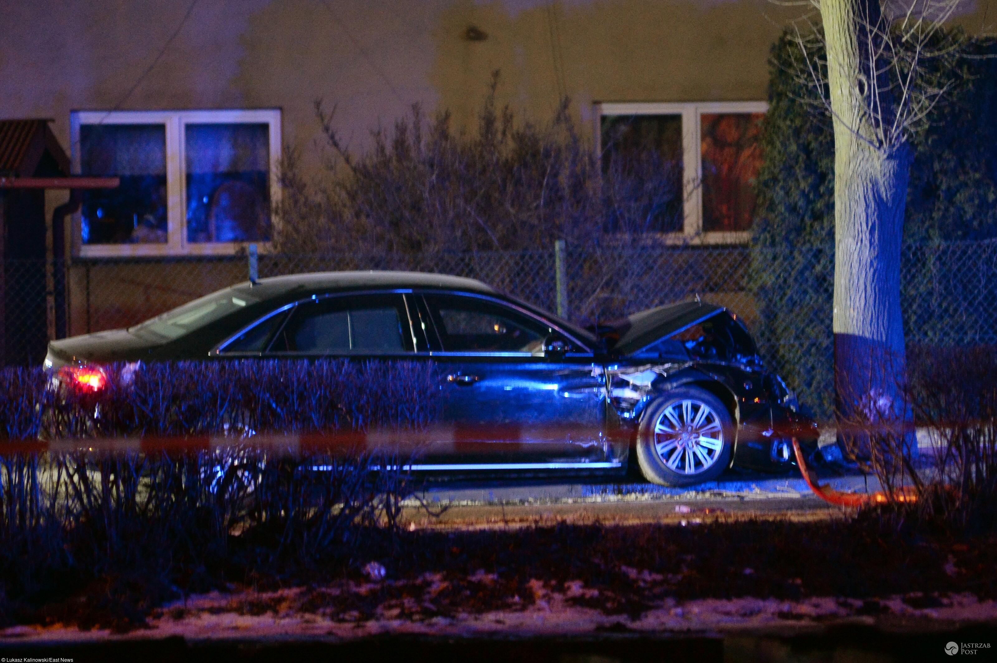 Audi premier Beaty Szydło uderzyło w drzewo