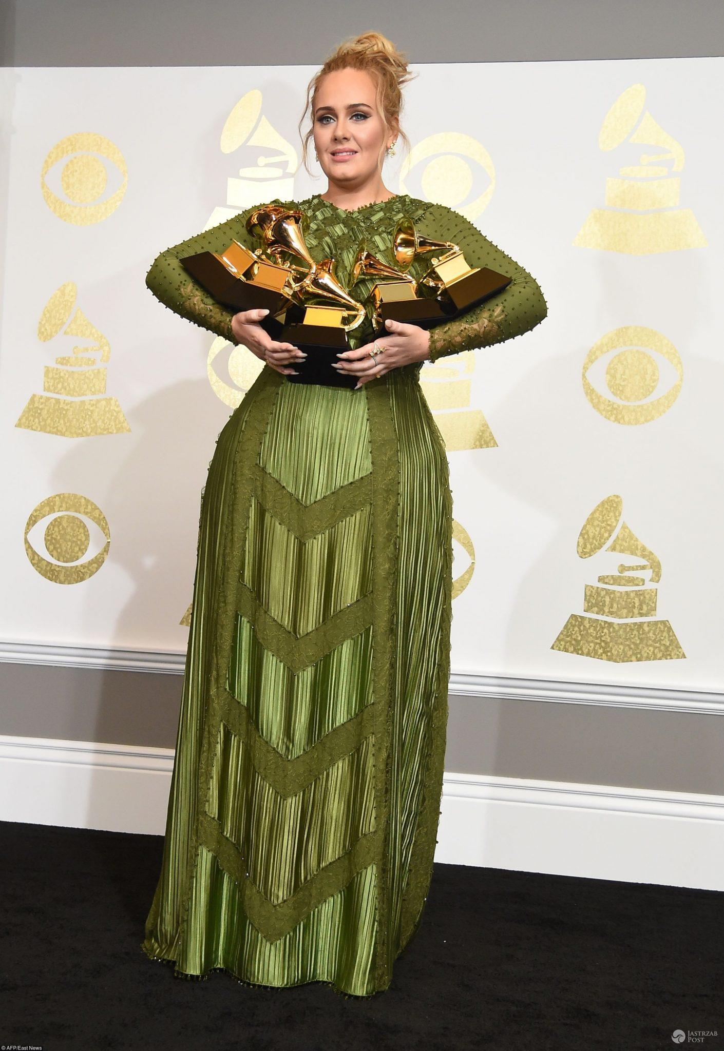 Adele otrzymała 5 nagród Grammy 2017