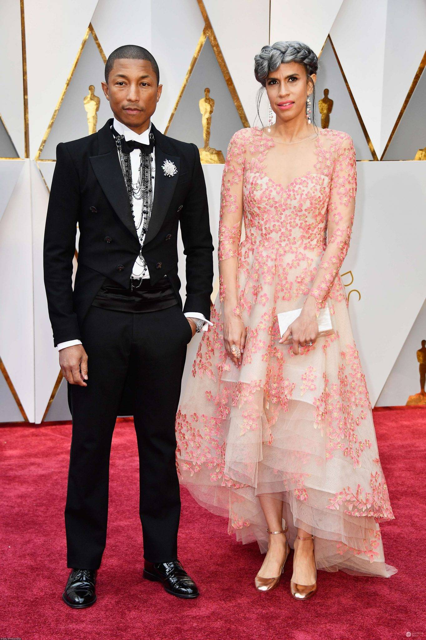Pharrell Williams z żoną - Oscary 2017