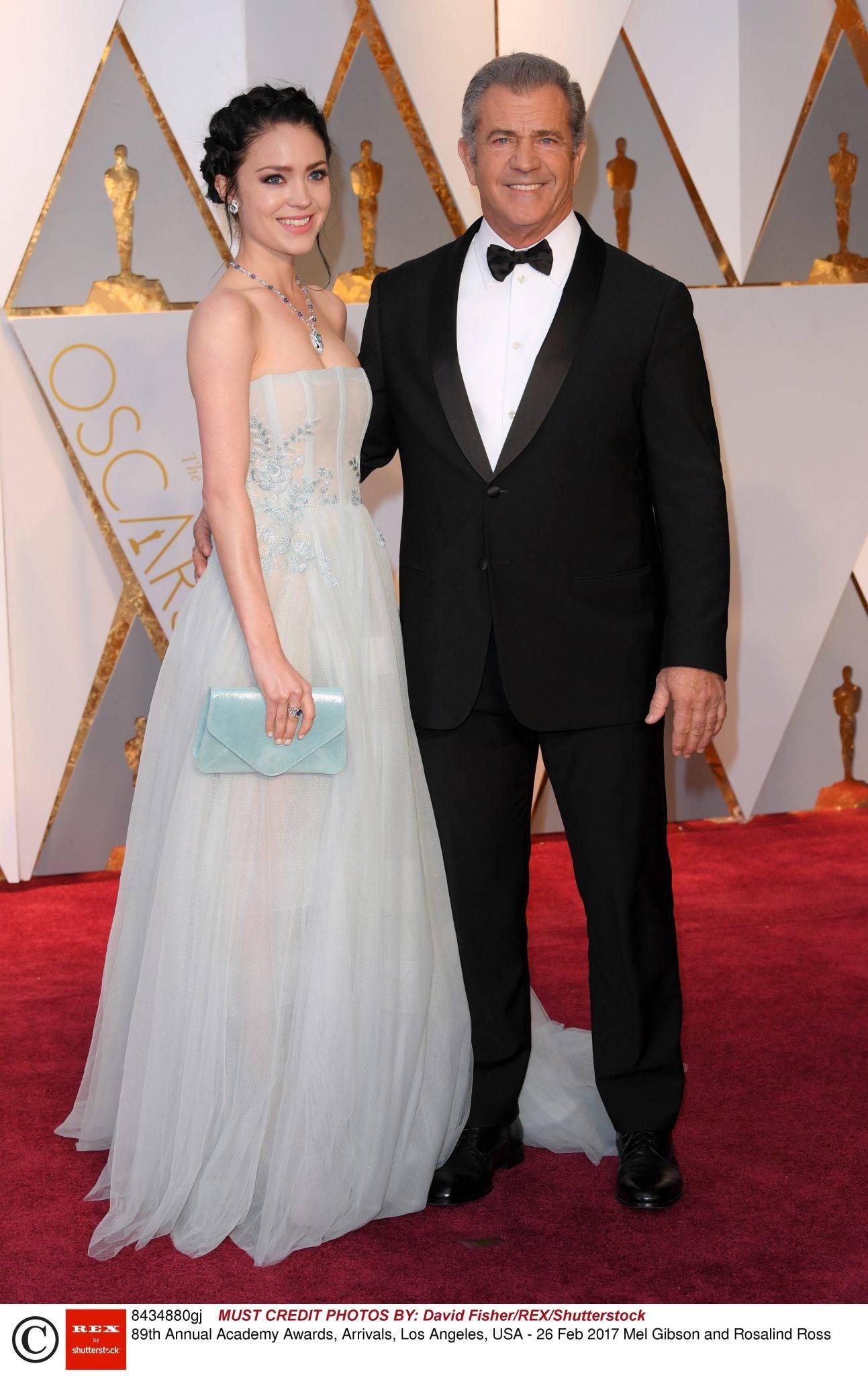 Mel Gibson i Rosalind Ross - Oscary 2017