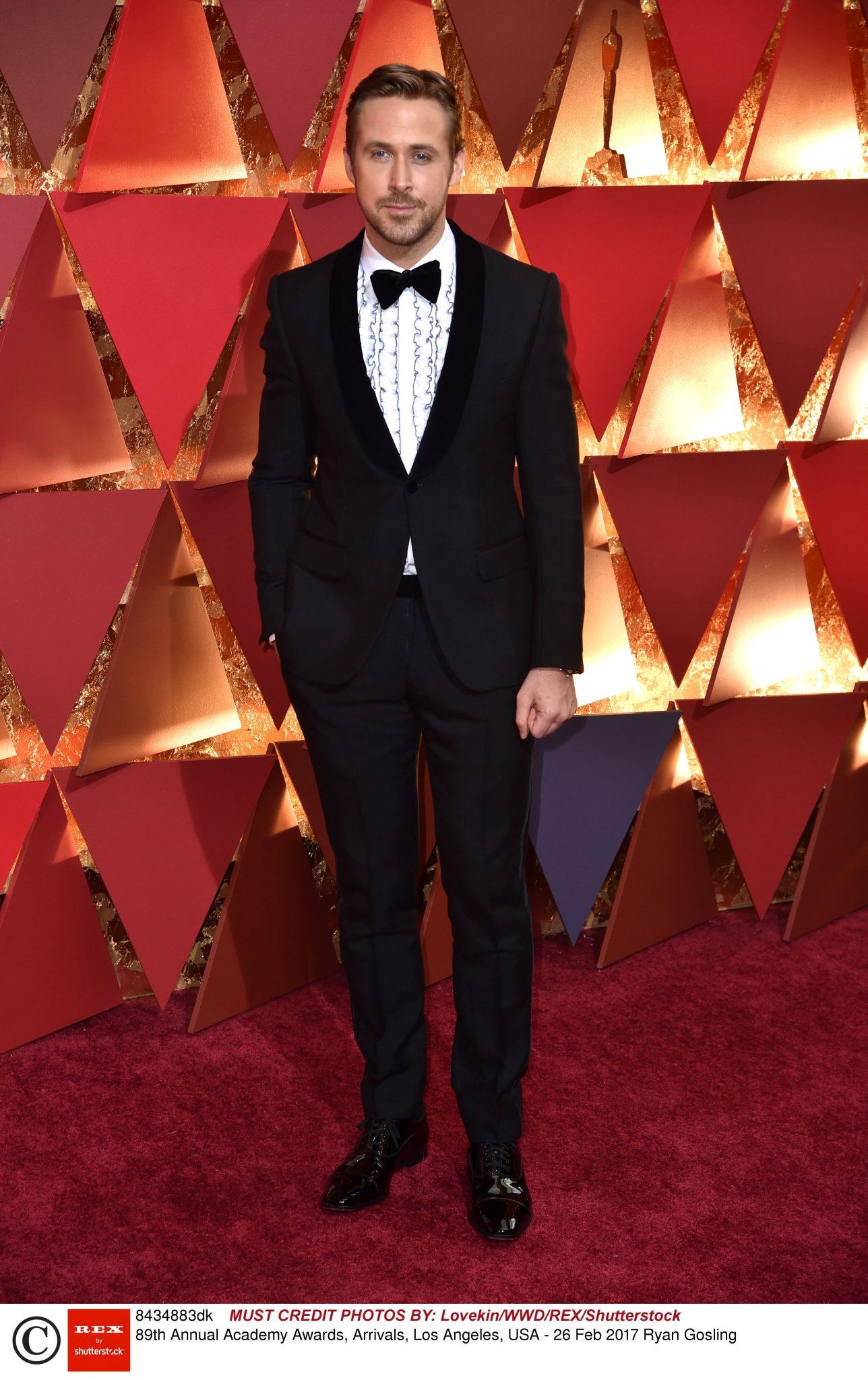 Ryan Gosling na Oscarach 2017 stylizacja