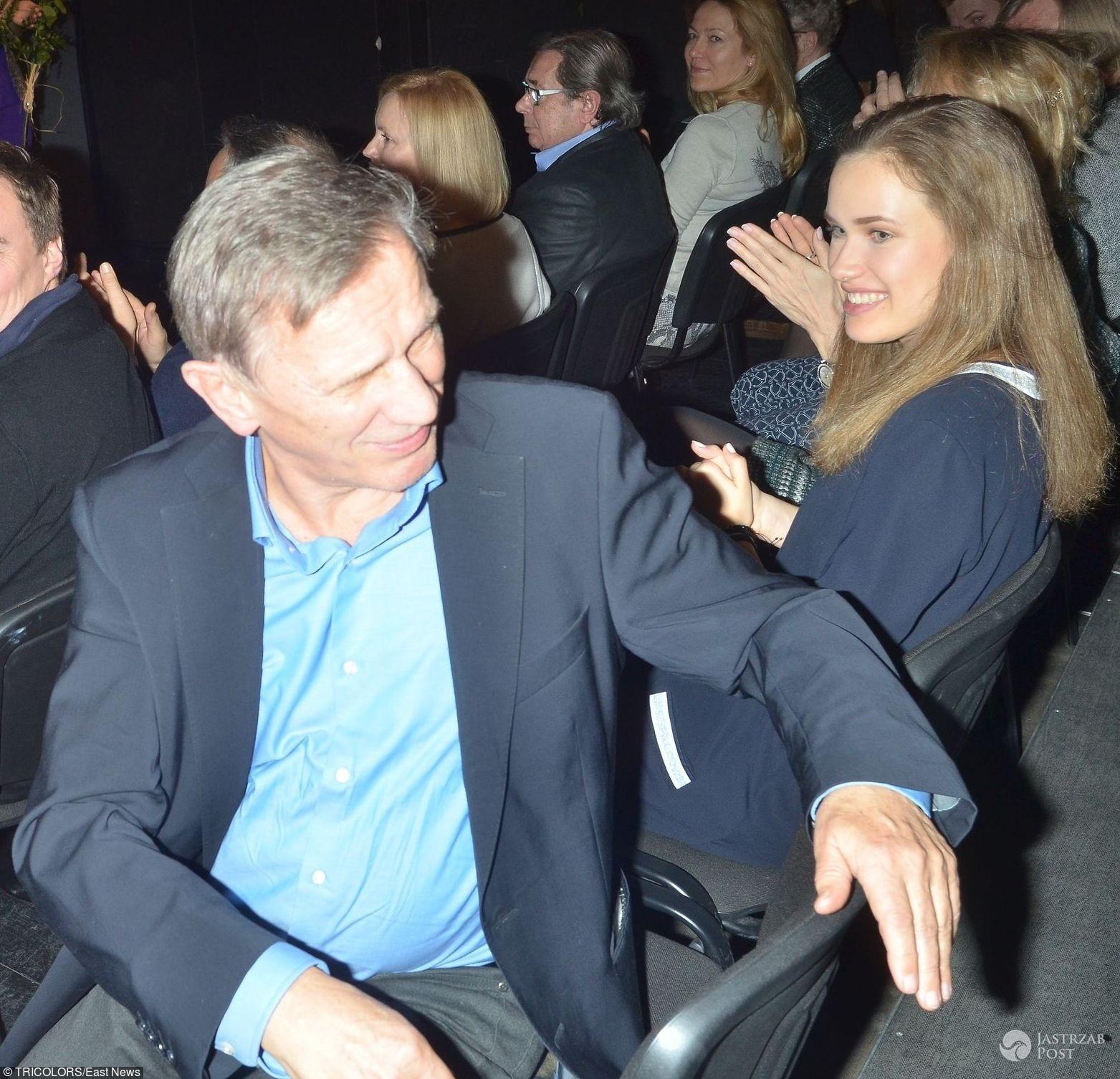 Helena Englert z ojcem Janem Englertem - premiera spektaklu Pelikan zabawa z ogniem