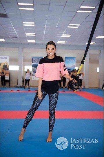 Anna Lewandowska w ciąży podczas treningu